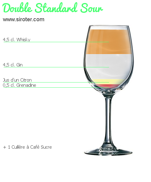 Cocktail DOUBLE STANDARD SOUR