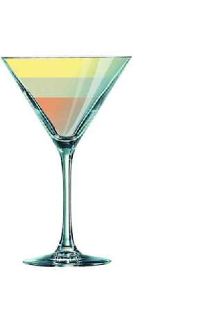 Cocktail BOURBON SLOE GIN FIZZ
